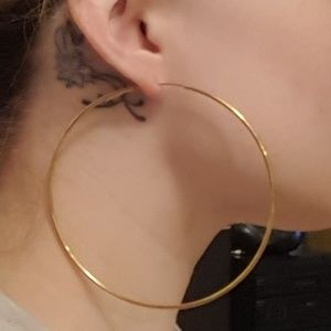Jewelry - large gold hoops infinity
